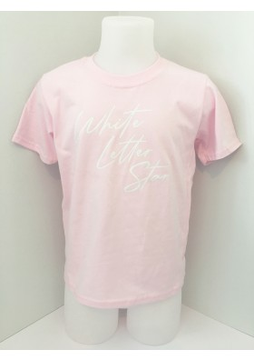 Pink White Letter Star Tee - 5-6 yrs