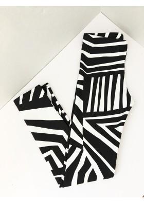 Geo Zebra Black Tee and Legging Set - 8 (5-6 yrs)