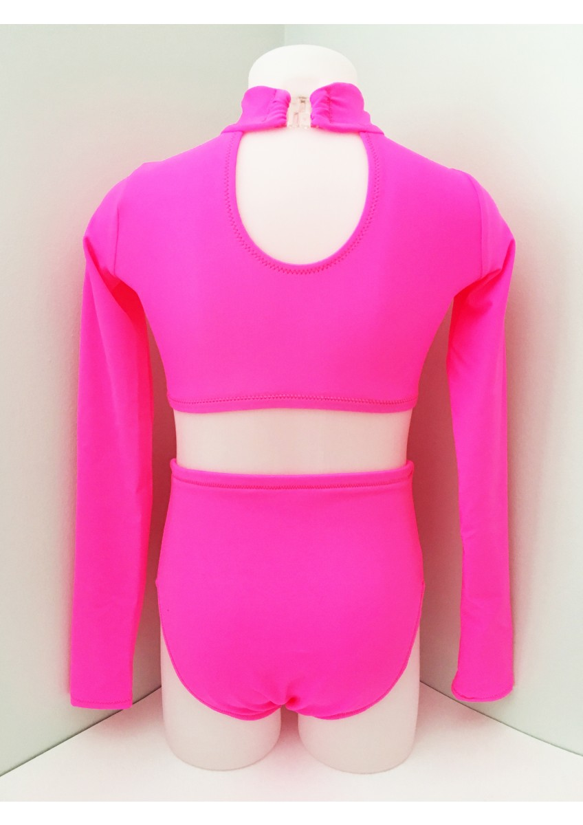 Back - Crop Set in CERISE