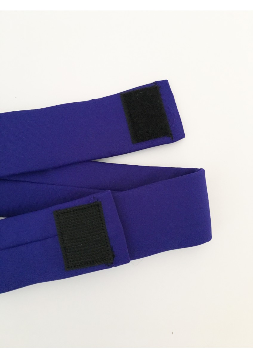 Belt in SAPPHIRE with BLACK VELCRO fastening