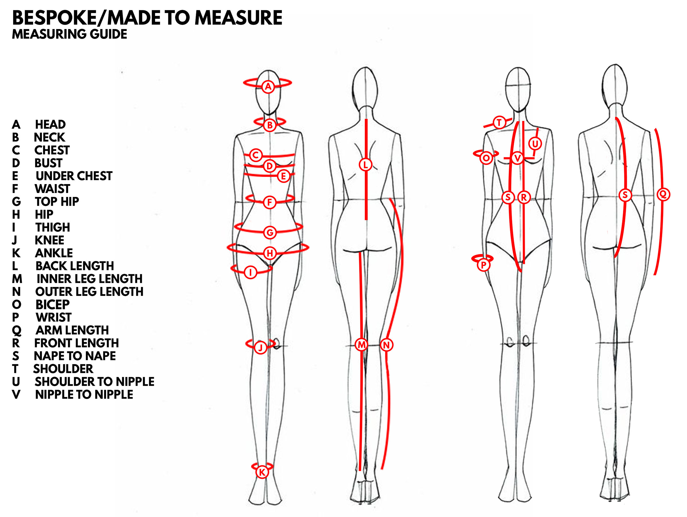 Bespoke Measuring Guide